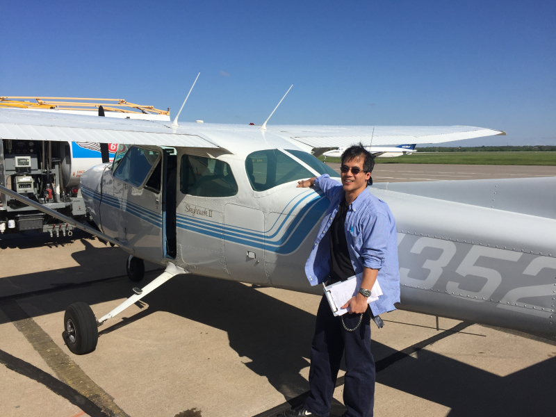 Paul Wang soloed May 2017