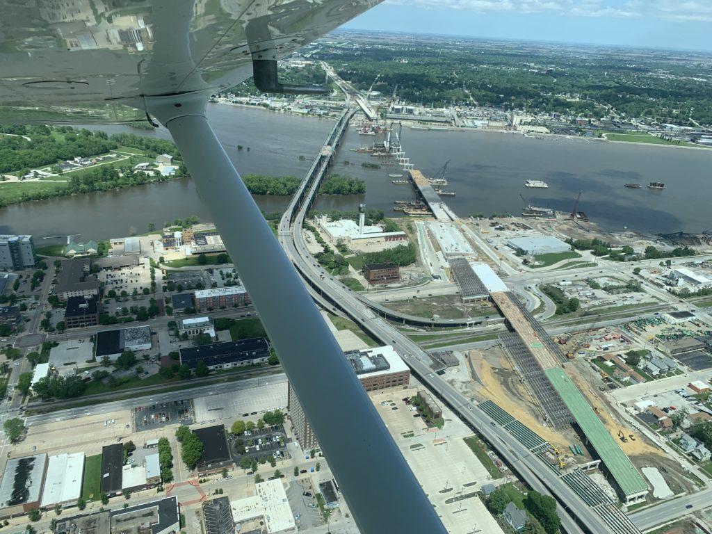 I74 bridge construction in the Quad Cities - Memorial Day 2019
