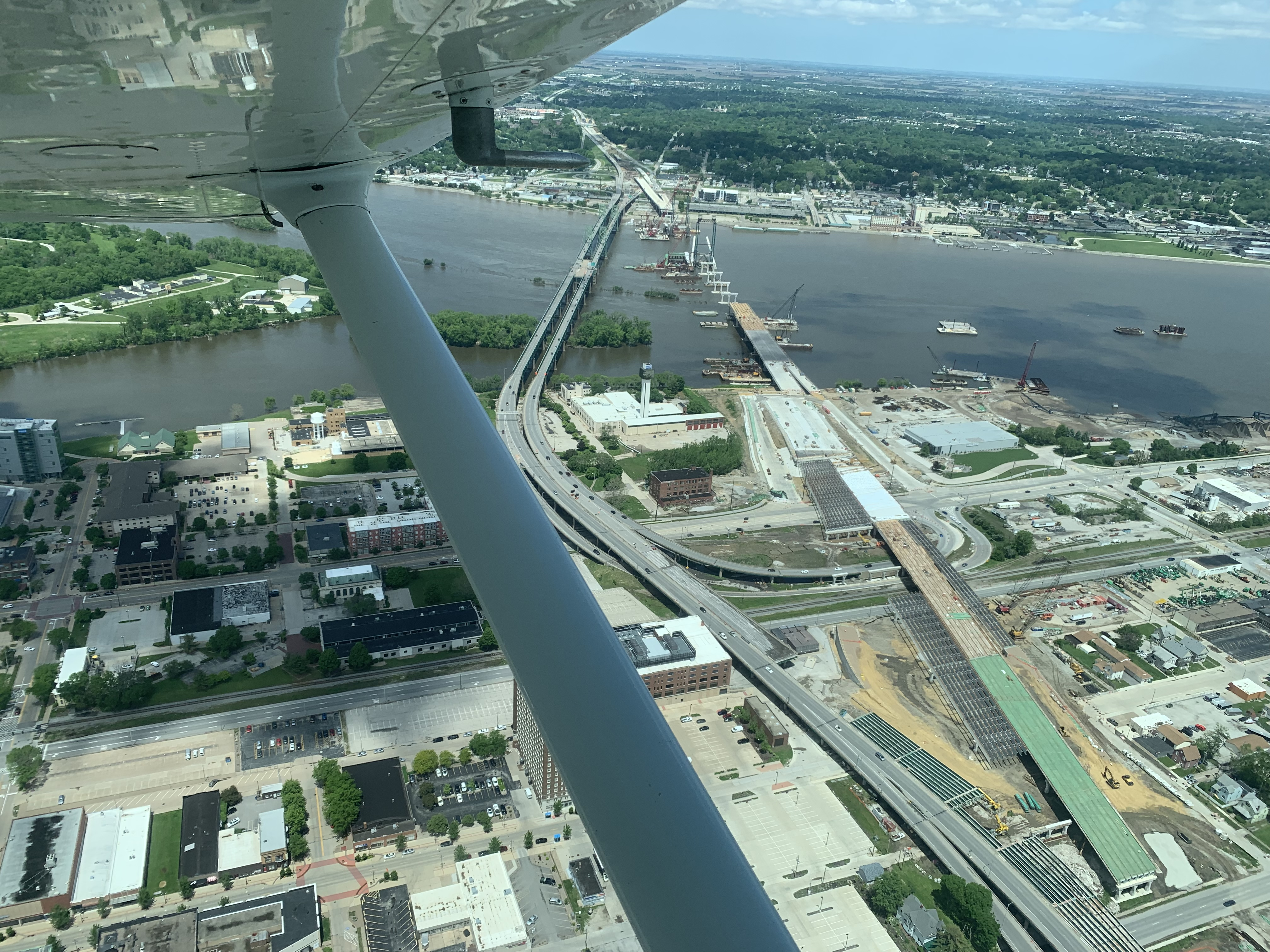 Learn to fly and beat the traffic! I-74 bridge construction